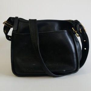 Coach Vintage Janice Legacy Black Shoulder Bag